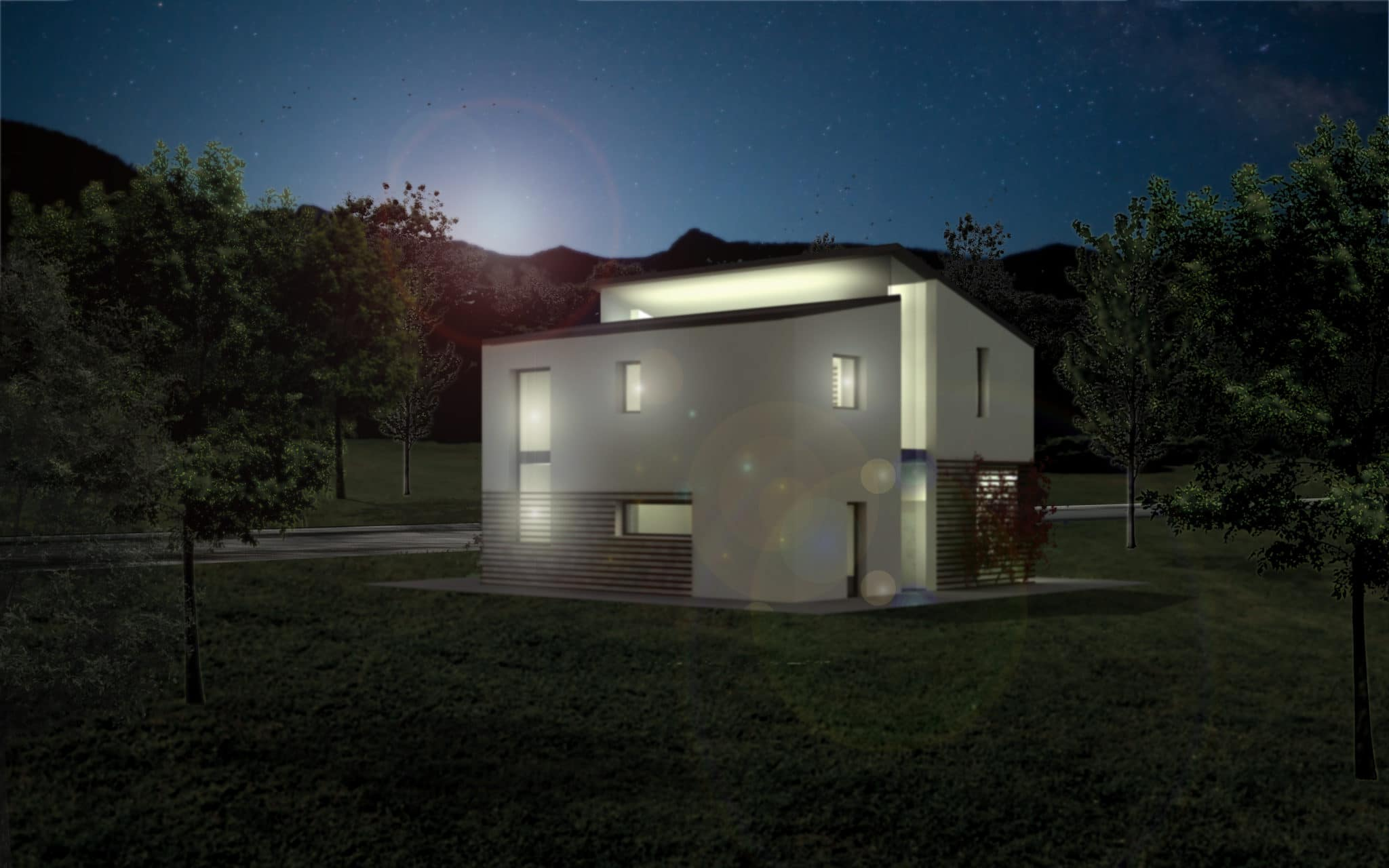 Legno case concorso di progettazione casa residenziale in legno officine visualarch - Progettazione esterni casa ...